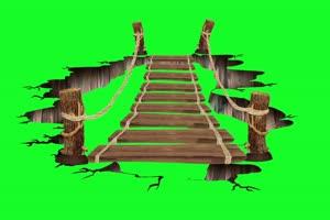 过桥素材 破碎 AE 巧影 跳