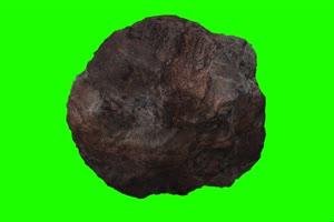 石头 陨石特效 绿屏抠像素