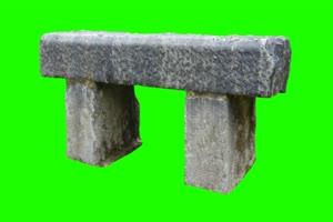 石头 石凳 绿屏抠像素材