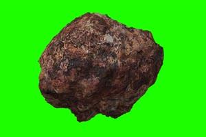 石头 陨石 特写 绿屏抠像