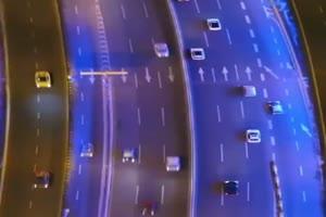 航拍 高速公路 巧影背景 竖版背景
