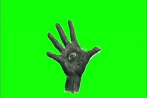 手掌 眼睛 幽灵 鬼魂 绿屏抠像素材