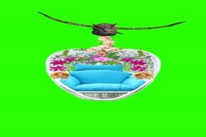 猫头鹰吊着花篮 素材7