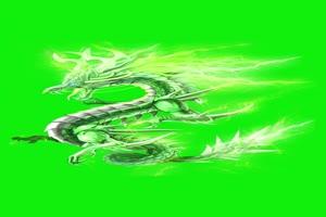霸气神龙 绿屏抠像 特效素材 巧影AE