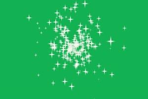 星星 新白娘子传奇 法术特效 绿屏素材 公众号