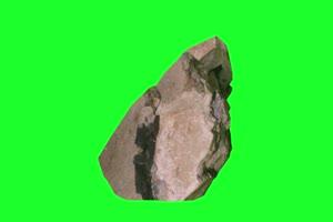 石头 陨石 特写4 绿屏抠像