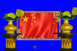 五星红旗 爱国心 国庆节快