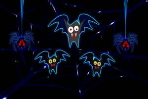 可爱蝙蝠 万圣节 背景素材