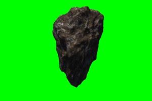 陨石1 旋转 绿屏抠像 特效素材