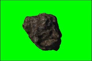 陨石3 旋转 绿屏抠像 特效素材