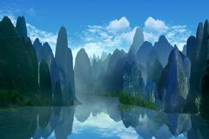 美景 山水背景 背景素材