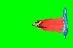 古装美女 绿屏素材 巧影