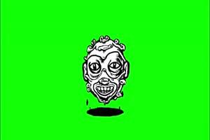 头颅 幽灵 鬼魂 绿屏抠像素材