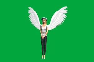 天使警察绿屏抠像 特效素