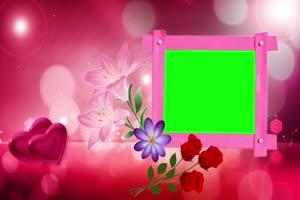 爱心 相框 绿屏抠像 巧影AE 特效素材 6