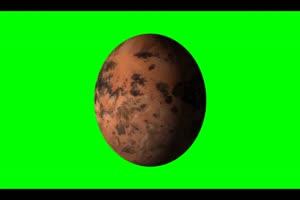 星球3 旋转 绿屏抠像 特效素材