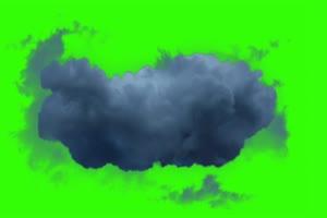 乌云 飞行道具 绿屏素材