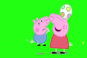 小猪佩奇 抢足球 绿屏抠像 巧影AE素材 特效牛