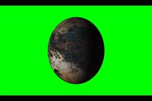 星球4 旋转 绿屏抠像 特效素材