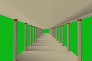 宫殿 绿屏抠像蓝幕特效素