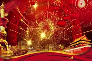 国庆舞台有音乐 国庆节70周年 特效牛素材网免费