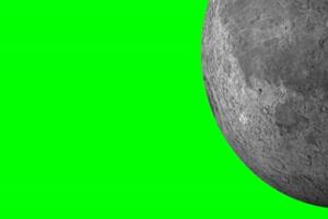 月球 月亮 旋转 旋转 绿屏