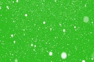 控雪静止 绿屏抠像素材