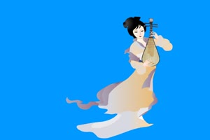 古装美女 美女琵琶 5 绿屏