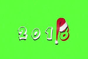 圣诞节 Happy New Year 2018 绿屏抠像巧影AE素材特效后