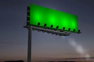 广告牌 告示牌 1 绿屏素材