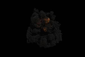 爆炸 烟雾 烟尘 炸裂 免抠像 特效素材 110