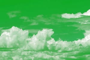 云 白云飘 天空白云 绿屏抠像