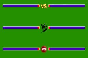 血条 2对战 对打  VS 拳皇街机游戏  特效后期绿屏