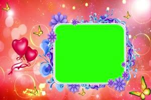 爱心 相框 绿屏抠像 巧影AE 特效素材 1