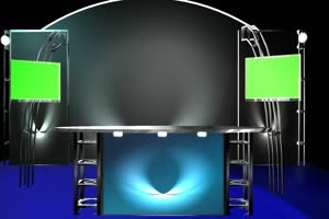 3d 虚拟演播室 绿屏素材 绿幕输出 巧影特效