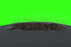 毁灭 地裂 素材  绿屏抠像