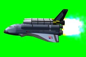 美国 航天器 旋转 绿屏抠像 特效素材