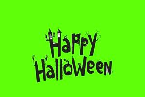 万圣节快乐标题动画 万圣节 恐怖 鬼魂 绿屏素材
