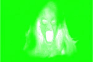 恐怖 人头面具2 绿屏绿幕 抠像素材