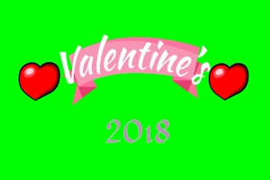 2018 情人节 1爱心 520 绿屏抠像素材