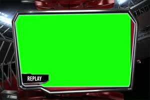 回放 虚拟直播间 演播室 背景 绿屏抠像 AE巧影