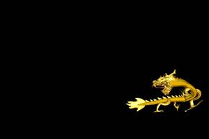 中国龙 金龙飞舞  10 透明通道 免抠像 超清