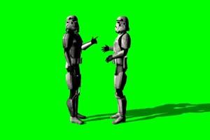 星球大战 帝国冲锋队 战士 82 绿屏绿幕特效抠像