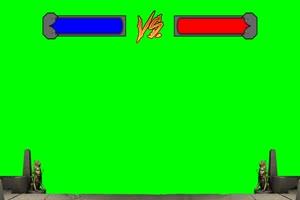 血条 对战 对打  VS 拳皇街机游戏 特效后期绿屏抠