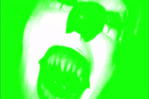 白色 面具 幽灵 鬼魂 绿屏抠像素材