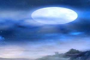 空中嫦娥背景 巧影素材 竖版特效
