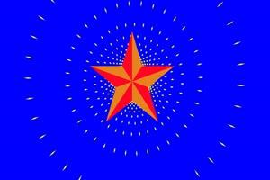 红星闪闪 国庆节 爱国 绿