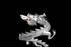 中国龙 金龙飞舞 喜庆银龙飞舞 11 透明通道 免抠