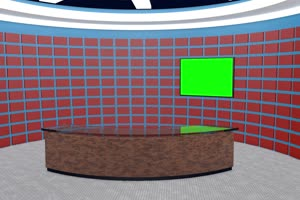 虚拟直播间 演播室 背景 绿屏抠像 AE巧影 特效素