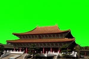 天坛 国庆节 绿屏抠像后期